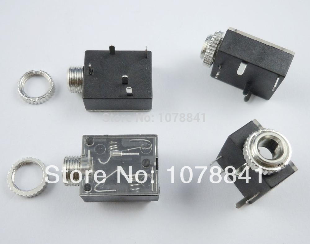 100 Pcs Per Lot 3.5mm 1/8 Female Audio Connector 5 Pin DIP Stereo Headphone Jack PJ3024M(China (Mainland))