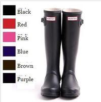 Fashion H rainboots Women Rain Boots Anti Slip Rubber Waterproof Boots Woman Wellies Boots Quantity Guarantee Top Matt