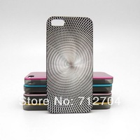 Shiny aluminium case cover sun lines ripple design For Apple iphone 5 s A204