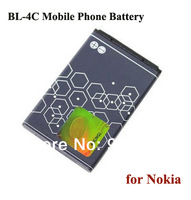 10pcs/lot BL-4C BL 4C Mobile Phone Rechargeable Li-ion Battery for Nokia 6100/1202/1203/1265/1325/1506/1508/1661/1662/2220s