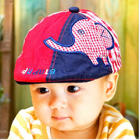 Lovely Elephants Labeling Baby Berets Kids Hats Caps 100% Cotton Child Baseball Caps For Baby 6-36 months