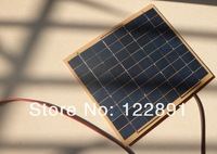 HOT SALE! 5Watt 5W Solar Panel Solar Cell - 5 Watt 12 Volt Garden Fountain Pond Battery Charger+Diode Free Shipping