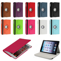 For Apple iPad Mini NEW 360 Degree Rotating PU Leather Case Cover  Swivel Stand  Screen Protector and Stylus #L0192387