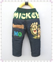 free shipping 2014 New price children spring jeans print letter 5pcs/lot baby trousers boy kids jeans cartoon jeans