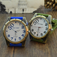 2014 New Arrival Hot Sell Unisex Fashion Sport Casual Quartz Silicone Strap Alloy Wrist Watch 5 colors #L05558