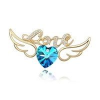 Popular accessories heart brooch -