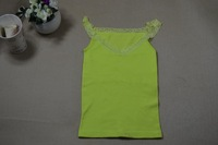 Free Shipping new 2014 spring summer women new arrival slim candy color tanks top vest spaghetti strap 2 pcs / lot