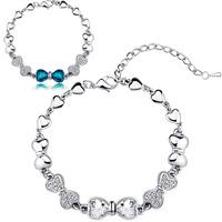 Quality accessories jewelry austrian crystal bow size bracelet