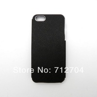 PU leather skin snap on hard case For apple iphone 5 A203