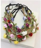 Bohemia national beach trend flower hair accessory hair bands hair band accessories