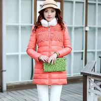 42048382 winter fashion rabbit fur gentlewomen lace organza wadded jacket