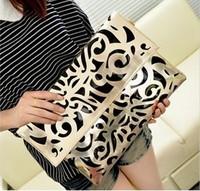 2014 vintage national women's trend handbag cutout envelope bag day clutch bag shoulder bag cross-body bag free shipping