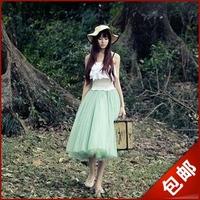 2013 spring princess wind gentlewomen elegant gauze expansion bottom puff skirt bust skirt full dress fairy skirt