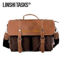2014 LINSHITASKS retro canvas shoulder bag man bag diagonal package Korean version of the influx of casual backpack bag