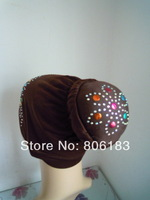 m1974 with hot drill special muslim inner cap many colors islamic mini hijab wholesale free shipping