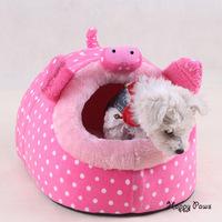 Designer pig pattern Pet floss bed Dog house Cat nest Novel pet bedding Small dog kennel house Washable removable Pet supply