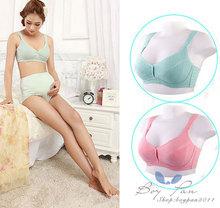 Free Shipping Fashion Women Breastfeeding Maternity Little Polka Dots Lady Vest Pregnant Bra