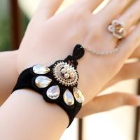 Diy princess lace crystal female bracelet with jewelry accessories wristband wristiest