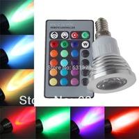 10sets/lot 3W E14 RGB LED Bulb LED Spotlight LED Lamp 85-265V HK Post free shipping