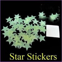 Free shipping Noctilucent stars Home Wall Glow In The Dark Star Stickers Decal Baby Kids Gift Nursery Room 1000pcs