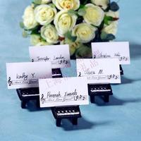 Free Shipping 100pcs Black Piano beach bridal boutique Card Holder SZ042