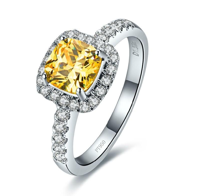 line Get Cheap 1 Carat Princess Cut Engagement Rings Aliexpress