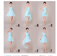 Fashion 2014 bridesmaid dress evening dress short design plus size bridesmaid dress female spring