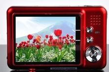 Free Shipping  NEW 12.0 MP 2.7TFT LCD DIGITAL CAMERA 8X Digital ZoomAnti-shakeRechargeable Lithium Battery,Camera Bag