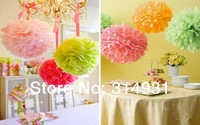 New Arrival Diy Pom 26 Colors 10cm(4 Inch) Paper Wedding Flowers Ball Wedding Decoration Flower 10pcs/Lot Free Shipping FBL0020-