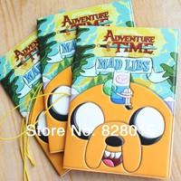50pcs/lot Hot Anime Adventure Time Jake an Finn Cute Cartoon Passport Holder Free shipping by EMS