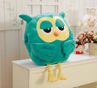 Free Shipping 50cm*40cm Soft Cute Owl Cushion Stuffed Plush Hand Warmer Pillow
