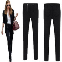 2014 new arrivals  fashion plus size ,casual pants side zipper decoration legging pencil pants,free shipping.L-XL-XXL-3XL