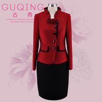 Guqing mother formal dress winter wool elegant set gq3593