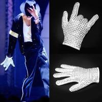 F0534 Michael Jackson Billie Jean Crystal Right hand Glove Unisex White Fashion Cotton Glove wholesale hot sale
