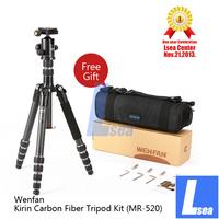 Wenfan Professional SLR Portable Kirin Carbon Fiber Tripod Kit Lsea Center (MR-520)