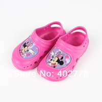 Retail children shoes plastic pink kis slippers fashion girls softy cartoon slippers girls garden shoes TLZ-X0037