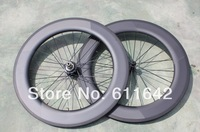 Powerway Hub 86mm clincher road wheel set ,CN Spokes and nipples ,27mm widen 20/24holes 700C wheel .