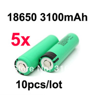 Free Shipping 10pcs/ lot  New Original NCR18650A Rechargeable Li-ion battery 3.7V 18650 3100mAh non-protected