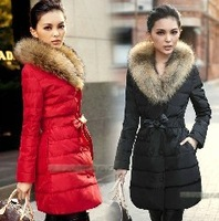 women down coat jacket  coat  fashion luxury raccoon fur thickening slim lacing  cotton-padded  XZS4844