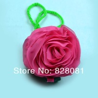 Fashion Red/Pink Foldable Shopping bag Rose flower shape bags