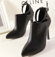 2014 new European and American high-heeled shoes single shoes pointed white star favorite nightclub shipping