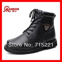 2014 free shipping new winter rubber waterproof footwear tactical shoes men genuin leather fur boots