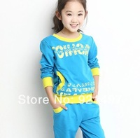 Children's clothes 2014  spring girl of the spring and autumn period and the 5-6-7-8-9-10 - year - old children sports clothes