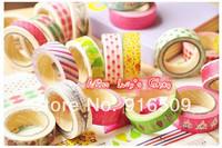 Free ship 1lot=10pcs/korean New fashion washi masking cartoon DIY tape/cute adhesive tape / DIY sticker label/wholesale
