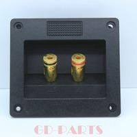 2PCS Audio Speaker Cabinet Gold Binding Post terminal box connector board 92*83