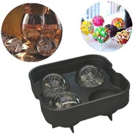 Creative food grade silicone ice hockey special whisky bar bartender hockey mold silicone ice mold equipment