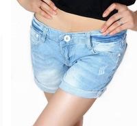 Free Shipping, Hot Sale! 2014 Newest Elegant Design Girl's Women's Shorts Casual Curling Denim Shorts Pants, NK5