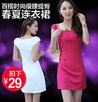 New 2014  Women summer dress 2014 Casual Dress Plus Size  Slim Knitting Winter Dress  XL XXL SI024-1