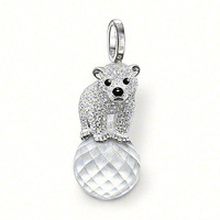New! Wholesale Free shipping 925 silver charms/ beautiful bear pendant / silver pendant charm, cute gift for best friends TS1013