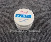 5pcs UV gel nail tools builder gel nail for creating fantastic crystal french nail effect,clear
